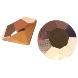 2 x Preciosa Puntsteen 8 mm Crystal Capri Gold