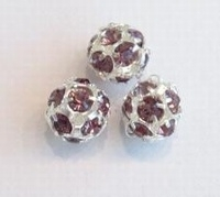 Kristal ballen 10mm lila