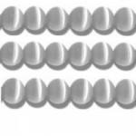 20 stuks prachtige cateye kralen 4mm licht grijs