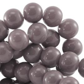 15 stuks Keramische Glaskralen 8mm  Greige grijs