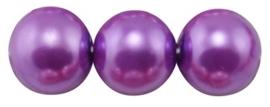 30 x prachtige glasparel kleur: DarkOrchid 8mm