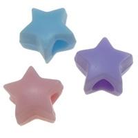 15 stuks Jelly style siliconen kralen mix 10 x 7 mm gat: 4mm ster  geschikt voor veters  assortiment