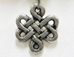 10 keer Prachtige Tibetaans zilveren tussenzetsels 17mm gat 1,5mm
