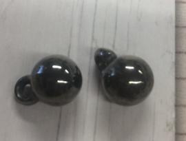 5 Stuks acryl kralen parels met oogje 11x8 mm gat 2 mm