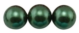 30 x prachtige glasparel kleur: DarkGreen 8mm