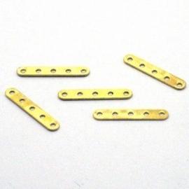10 stuks Afstandhouders verdelers 20 x 4 mm goudkleur
