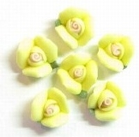 Porcelijn Roosje 8 mm geel