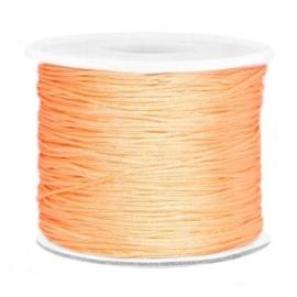Per 2  meter Macramé draad 0.7mm Peach orange