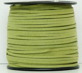Faux suède veter,  Light moss green, 1 meter x 3mm