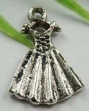 4 x tbetaans zilveren jurk 19mm x 13mm