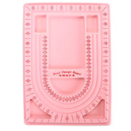 Kralenbord rijgbord legbord roze A4