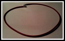 Per stuk Armband/ketting rood European-style bruin leer 45 cm