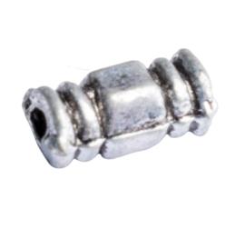 10 x metalen kraal buis zilver kleur 7 x 4mm gat: 1,5mm