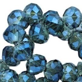 15 x Topfacet 8x6 mm Montana Blue Diamond