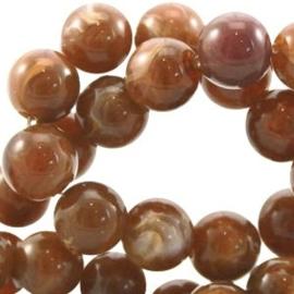 40x Perla beads 6mm Smoked topaz