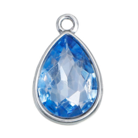 Geboorte steen hanger prachtig kristal facet December Blauw Topaz 19x12 mm