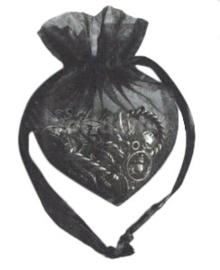 20 stuks luxe hartvormige organza zakjes 10cm x 8.75cm zwart