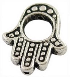 10 x Tibetaans zilveren Hamsa Hand kraal frame 15,5 x 13 x 3mm gat: 5mm