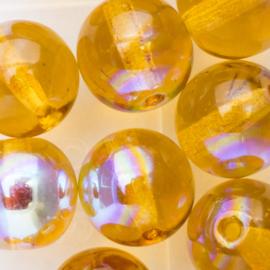 Gütermann regenboogkralen 8mm c.a. 16 stuks amber