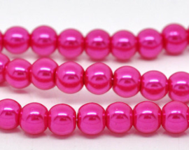 30 x prachtige glasparel kleur: Hot Pink