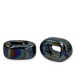 1 x C.U.S sieraden schuiver DQ Grieks keramiek 5x12mm Black