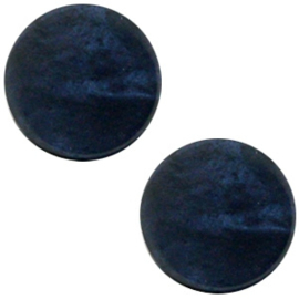 1 x Polaris cabochon plat 20mm Mosso shiny Blue iris