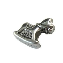 Tibetaans zilveren European Jewelry bedel gat 4,5mm x 5mm hobbelpaard