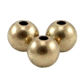 10 x DQ metalen kraal 5mm Antiek brons