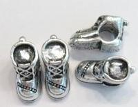 Per stuk MetalenEuropean-style kraal schoentje 16 mm