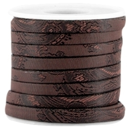 20 cm Trendy barok plat koord 5mm Black - brown