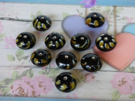 5 x High Quality Glass Hand Made Bead 132 afm. ca. 11 x 18mm