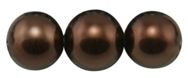 Per stuk    Glasparel Donkerbruin 14mm