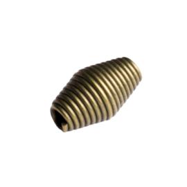 10 x metalen kraal geelkoper kleur 10,5 x 6mm gat: 1,5mm