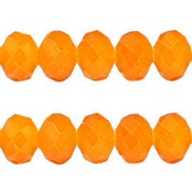 10 stuks Facet kralen vintage Oranje 8 x6mm