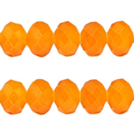 10 stuks Facet kralen vintage Oranje
