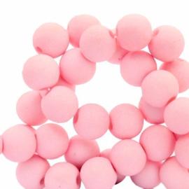 30 x 6 mm acryl kralen Pink