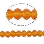10 x Briolette kraal 10 x 8mm gat 1,5mm oranje