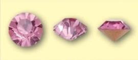 Doosje met 6 stuks Jewelry Stones (M.C. Chaton) 6mm Roze SS28