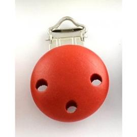 Rode speenclip voor het maken van een speenkoord.