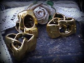 Per stuk metalen gouden kraal/tussenzetsel 14 mm