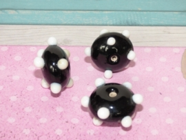 5 x High Quality Glass Hand Made Bead 087 afm. ca. 10 x 21mm