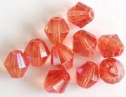 10 Stuks Facet kristal konisch Meloen AB 8 mm