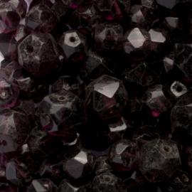 10 x mix Tsjechië kristal facet glas kraal  6mm gat: 1 mm Kleur: donker paars