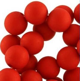 15 stuks 10 mm acryl kralen rood