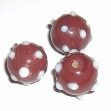 10 x Rood met dots, 13mm