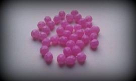 10 Stuks glaskraal facet mat licht-roze 8 mm