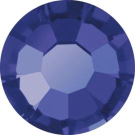 Swarovski blauw/paars plat strass steentje 7mm