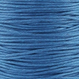 10 meter Waxkoord 1.5 mm Deep Blue