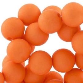 10 stuks Acryl kralen mat rond 12mm warm oranje