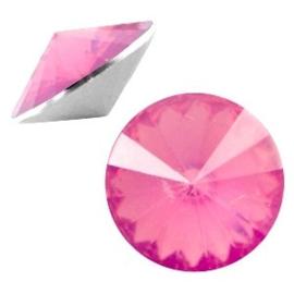2 x Rivoli 1122 - 12 mm puntsteen Rose opal